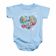 I Love Lucy Baby Romper The Best Present Light Blue Infant Babies Creeper