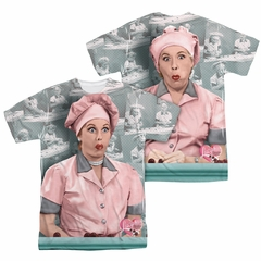 I Love Lucy Chocolate Belt Sublimation Shirt Front/Back Print