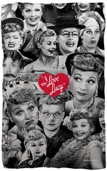 "I Love Lucy ""Faces"" Fleece Blanket - 36"" X 58"""