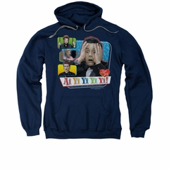 I Love Lucy Hoodie Sweatshirt Ai Yi Yi Yi Yi Navy Blue Adult Hoody Sweat Shirt
