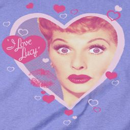 I Love Lucy Kissing Hearts Shirts