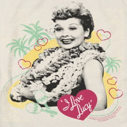 I Love Lucy Luau Graphic Shirts