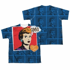I Love Lucy OMG Sublimation Kids Shirt Front/Back Print