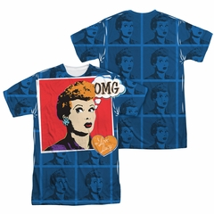 I Love Lucy OMG Sublimation Shirt Front/Back Print