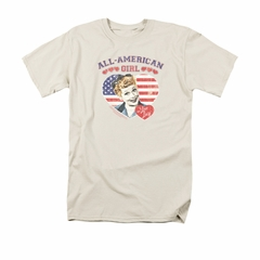 I Love Lucy Shirt All American Adult Cream Tee T-Shirt