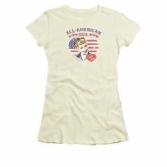 I Love Lucy Shirt All American Juniors Cream Tee T-Shirt