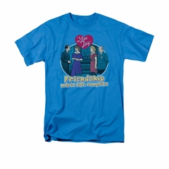 I Love Lucy Shirt Complete Adult Turquoise Tee T-Shirt