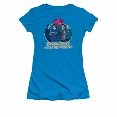 I Love Lucy Shirt Complete Juniors Turquoise Tee T-Shirt