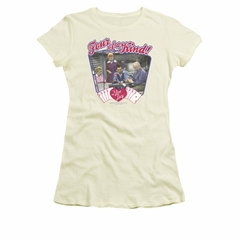 I Love Lucy Shirt Four Of A Kind Juniors Cream Tee T-Shirt