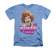 I Love Lucy Shirt Gypsy Queen Adult Heather Light Blue Tee T-Shirt
