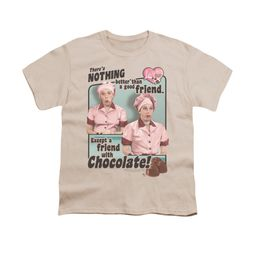 I Love Lucy Shirt Kids Friends And Chocolate Cream Youth Tee T-Shirt