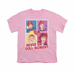 I Love Lucy Shirt Kids Panels Pink Youth Tee T-Shirt
