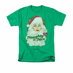 I Love Lucy Shirt Lucy Santa Adult Kelly Green Tee T-Shirt