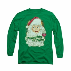 I Love Lucy Shirt Lucy Santa Long Sleeve Kelly Green Tee T-Shirt