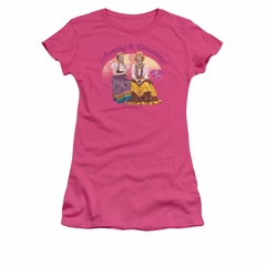I Love Lucy Shirt Scheming & Dreaming Juniors Hot Pink Tee T-Shirt