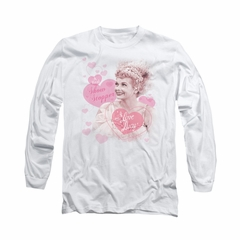 I Love Lucy Shirt Show Stopper Long Sleeve White Tee T-Shirt