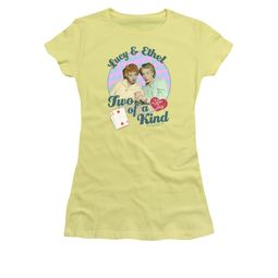 I Love Lucy Shirt Two Of A Kind Juniors Banana Tee T-Shirt