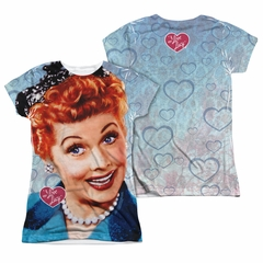I Love Lucy Smile Sublimation Juniors Shirt Front/Back Print