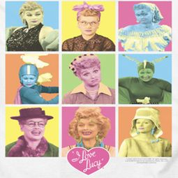 I Love Lucy So Many Faces Shirts