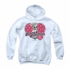 I Love Lucy Youth Hoodie Funny & Fabulous White Kids Hoody