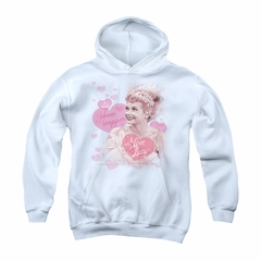 I Love Lucy Youth Hoodie Show Stopper White Kids Hoody