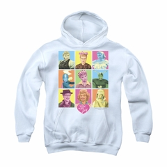 I Love Lucy Youth Hoodie So Many Faces White Kids Hoody