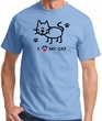 I Love My Cat Adult Tshirt