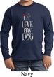 I Love My Dog Kids Long Sleeve Shirt