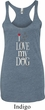 I Love My Dog Ladies Tri Blend Racerback Tank Top