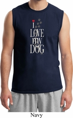 I Love My Dog Mens Muscle Shirt