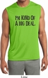 I'm Kind Of A Big Deal Black Print Mens Sleeveless Moisture Wicking
