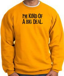 I'm Kind of a Big Deal Funny Sweatshirts