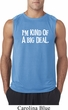 I'm Kind Of A Big Deal White Print Mens Sleeveless Shirt