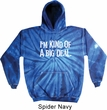 I'm Kind Of A Big Deal White Print Tie Dye Hoodie