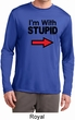 I'm With Stupid Black Print Mens Dry Wicking Long Sleeve Shirt