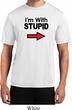 I'm With Stupid Black Print Mens Moisture Wicking Shirt