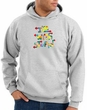 I'm With Stupid Hoodie Sweatshirt - Funny Two Ways Adult Ash Hoody