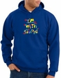 I'm With Stupid Hoodie Sweatshirt - Funny Two Ways Adult Royal Hoody