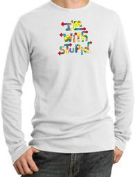 I'm With Stupid Long Sleeve Thermals - Funny Two Ways Adult T-Shirts