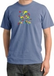 I'm With Stupid Pigment Dyed T-Shirt - Funny Two Ways Night Blue Tee