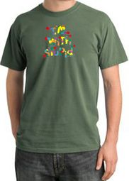 I'm With Stupid Pigment Dyed T-Shirts - Funny Two Ways Adult Tee Shirt