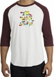 I'm With Stupid Raglan Shirt - Funny Two Ways White/Maroon Tee