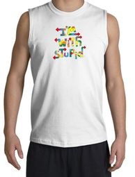 I'm With Stupid Shooter Shirts - Funny Two Ways Adult Muscle Shirts