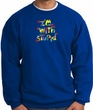 I'm With Stupid Sweatshirt - Funny Two Ways Adult Royal Sweat Shirt