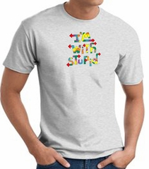 I'm With Stupid T-Shirt - Funny Two Ways Adult Ash Tee Shirt