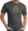 I'm With Stupid T-Shirt - Funny Two Ways Adult Charcoal Tee Shirt