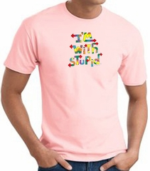 I'm With Stupid T-Shirt - Funny Two Ways Adult Pink Tee Shirt
