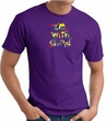 I'm With Stupid T-Shirt - Funny Two Ways Adult Purple Tee Shirt