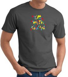 I'm With Stupid T-Shirts - Funny Two Ways Adult Tee Shirts