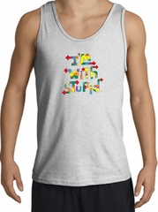 I'm With Stupid Tank Top - Funny Two Ways Adult Ash Tanktop